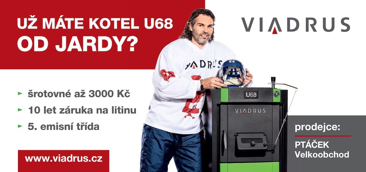 Billboard značky Viadrus s Jaromírem Jágrem