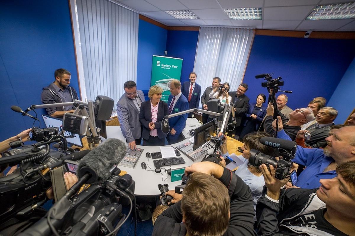 Start vysílání Českého rozhlasu v Karlovýcb Varech