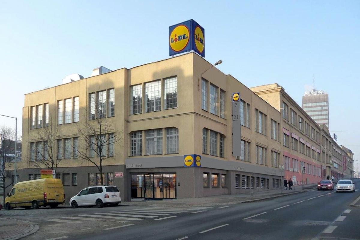 Lidl v Praze 3 na Vinohradské otevře v lednu 2019