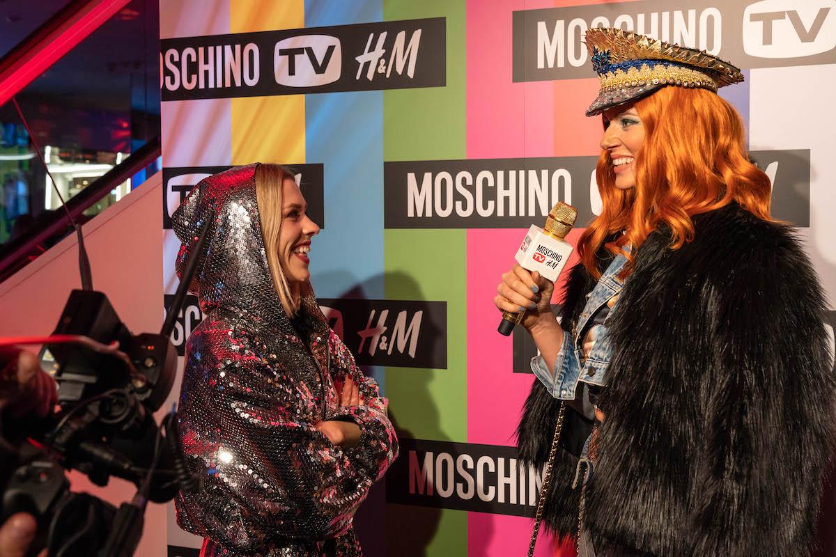 Nikol Moravcová při rozhovoru s Marianou Prachařovou ve středu 7. listopadu pro módní značky Moschino a H&M