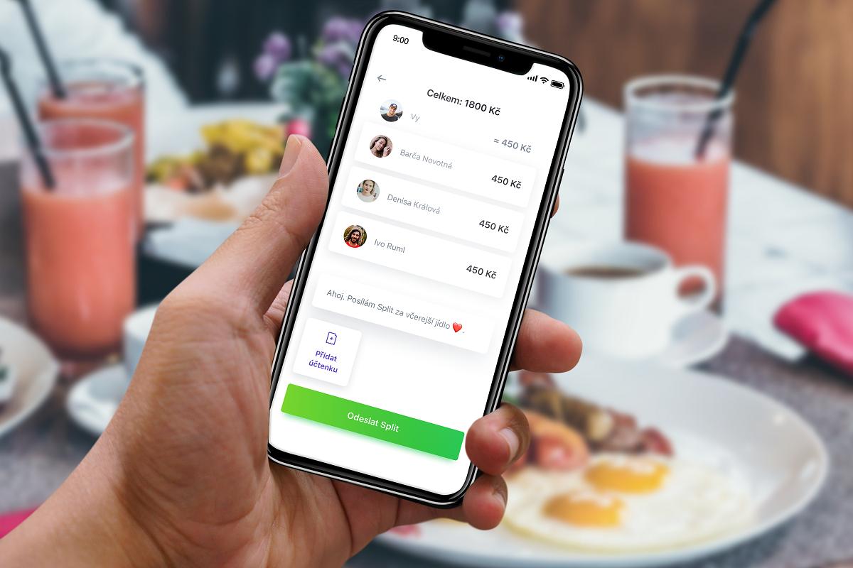 V aplikaci Split stačí jen zvolit kontakty, mezi které se má platba rozdělit, a aplikace všem rozešle platební údaje