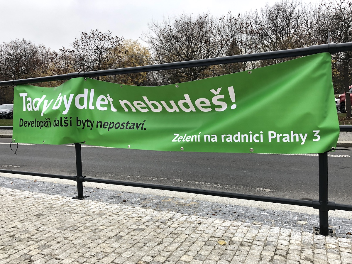 Kampaň proti Zeleným na Praze 3