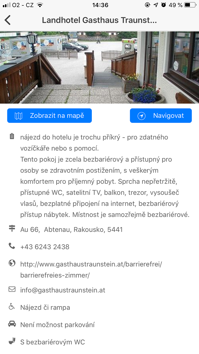Každé místo je opatřené podrobným popisem, který mohou uživatelé doplňovat i komentovat