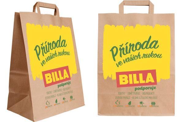 Billa ukončí prodej igelitek, bude prodávat tašky papírové a rozložitelné