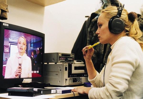 Gabriela Lefenda jako reportérka televize Nova v roce 2003. Foto: Michal Sváček / MF Dnes / Profimedia.cz
