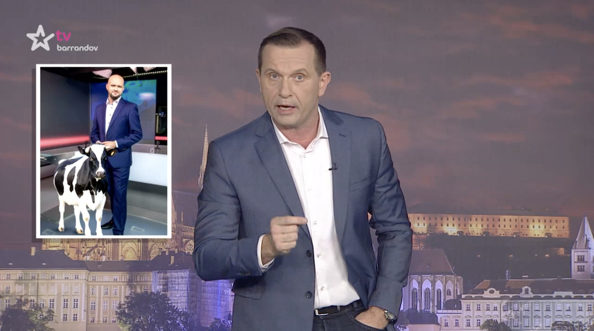 Jaromír Soukup k Luboši Rosímu. Repro: TV Barrandov