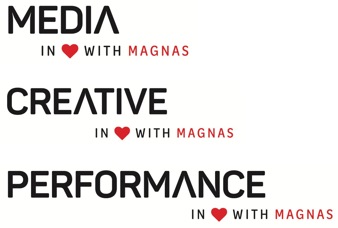 Logotypy jednotlivých týmů skupiny Magnas