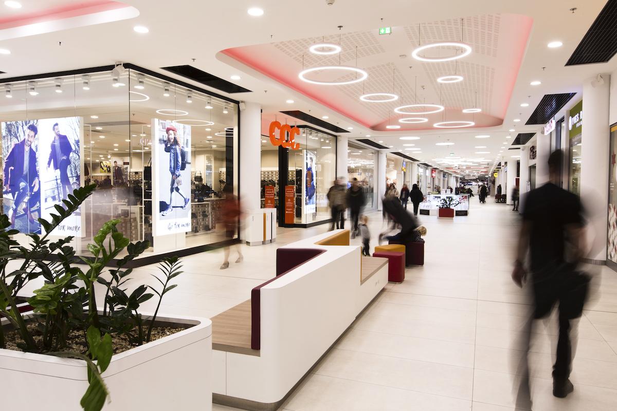 Interiér Obchodního centra Fénix