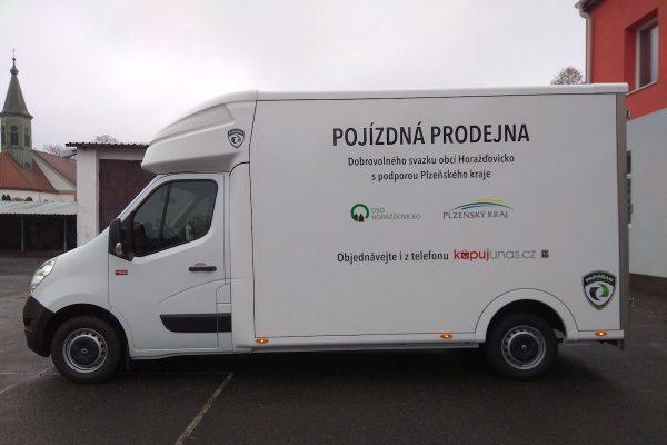 Obce na Horažďovicku společně zprovoznily vlastní pojízdnou prodejnu