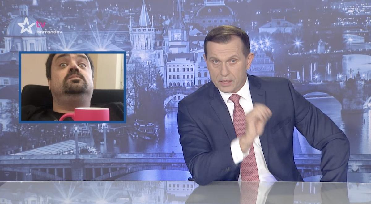 Jaromír Soukup využil Moje zprávy k vulgárnímu vzkazu v osobní záležitosti. Repro: TV Barrandov