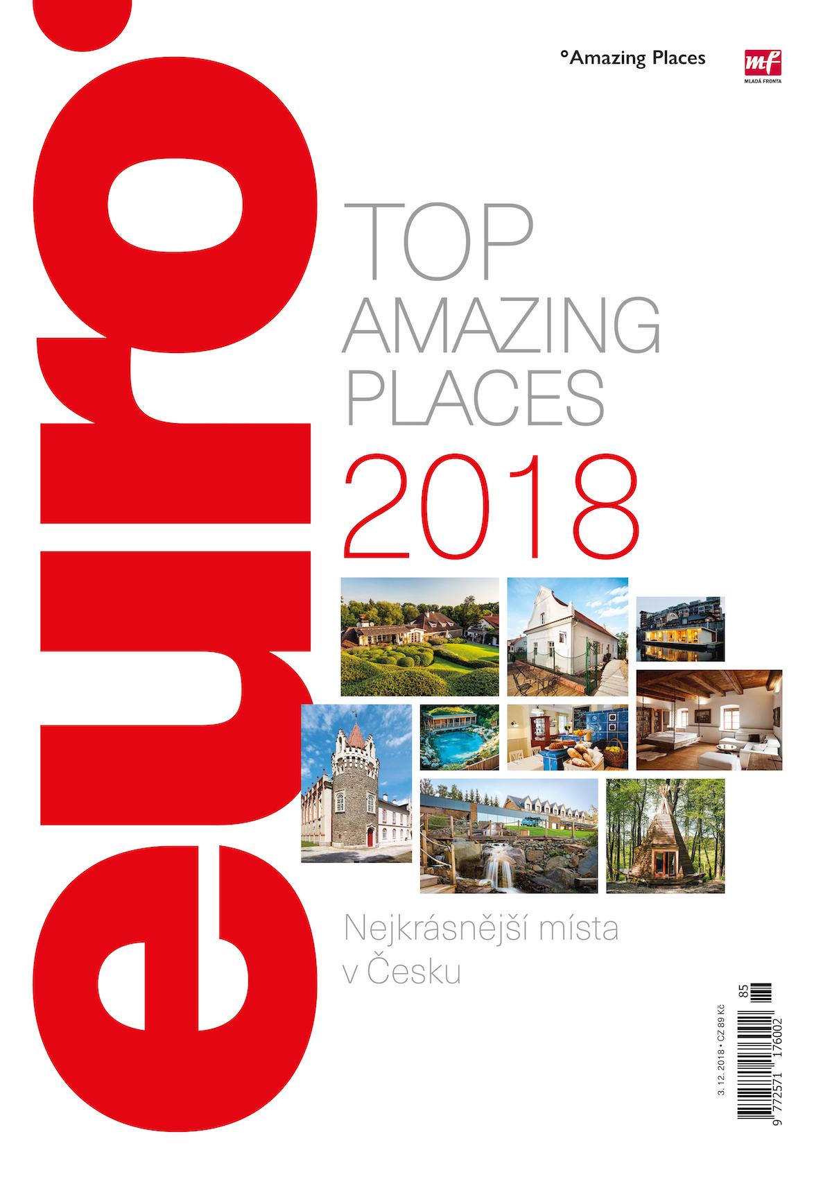 Titulní strana speciálu Amazing Places a týdeníku Euro