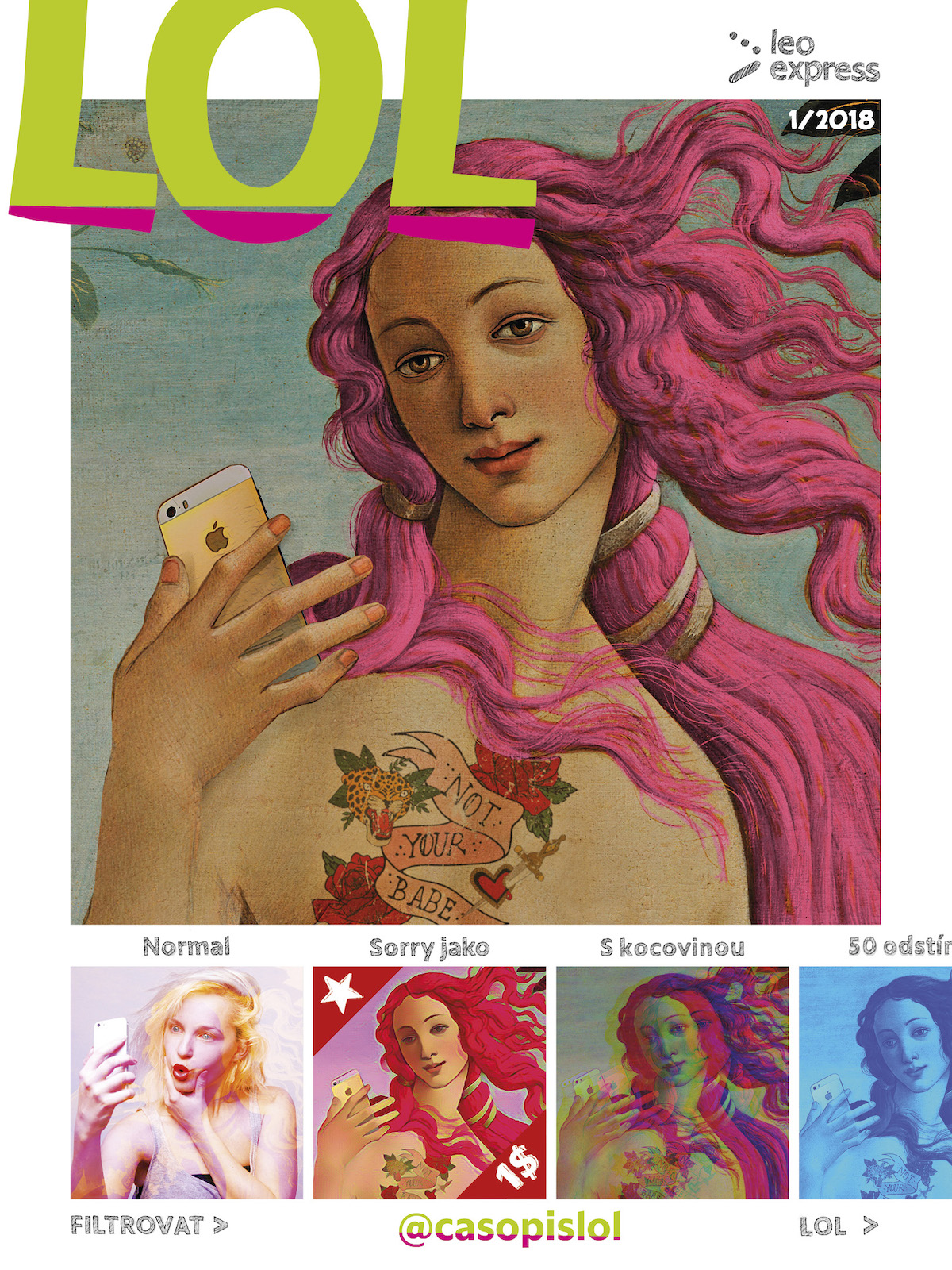 Titulní strana časopisu LOL