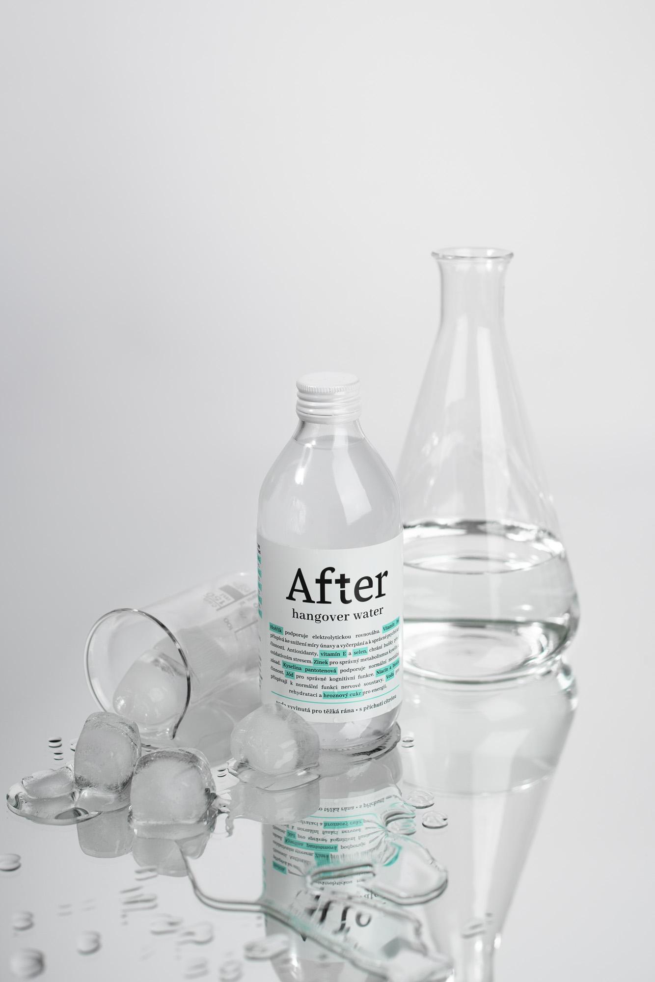 Design ochucené vody After vytvořila Andrea Bora