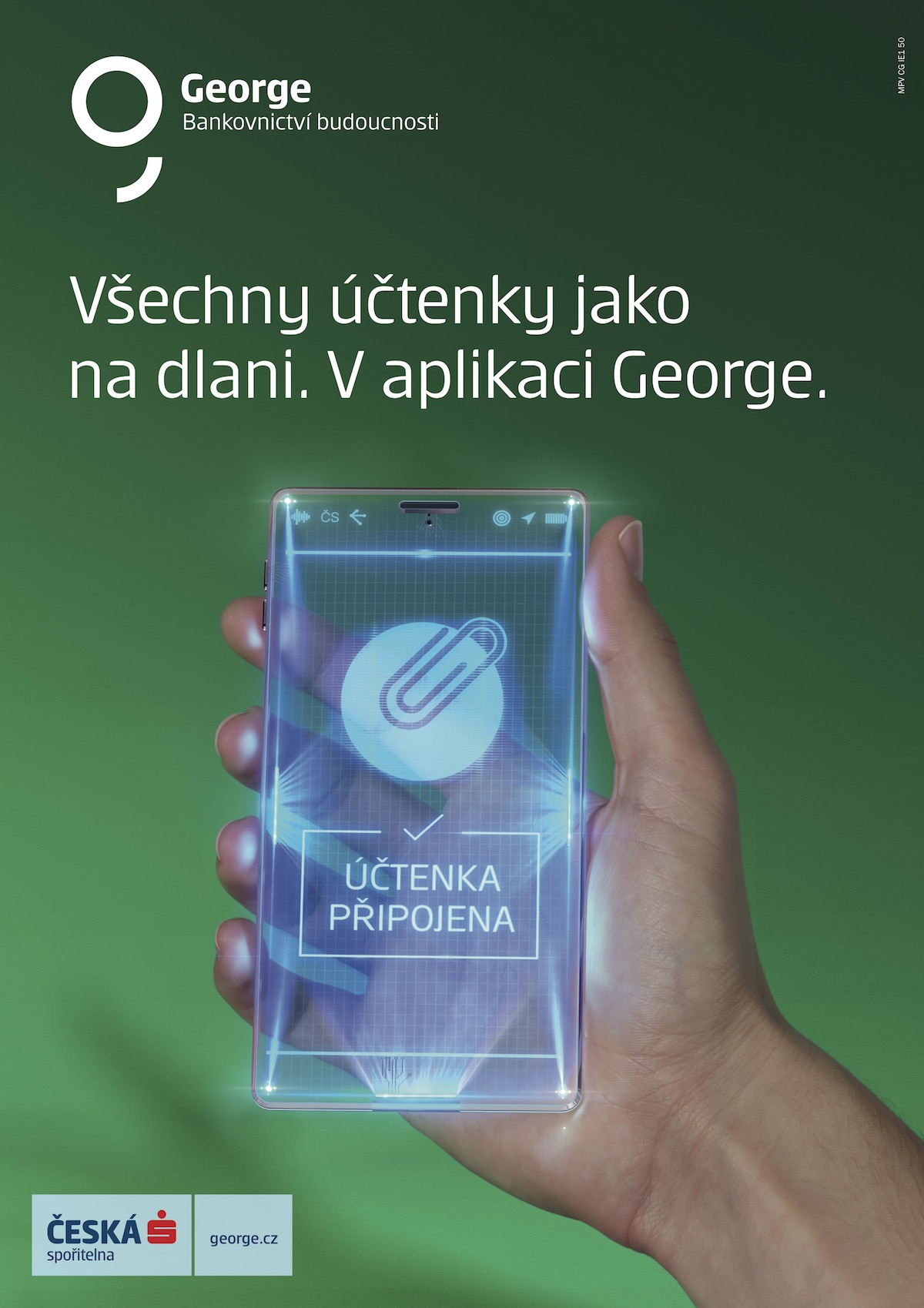 Mobilní aplikace George ukazuje své funkce