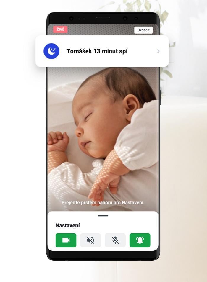 Amy Baby Monitor nabízí funkce mikrofonu i videa