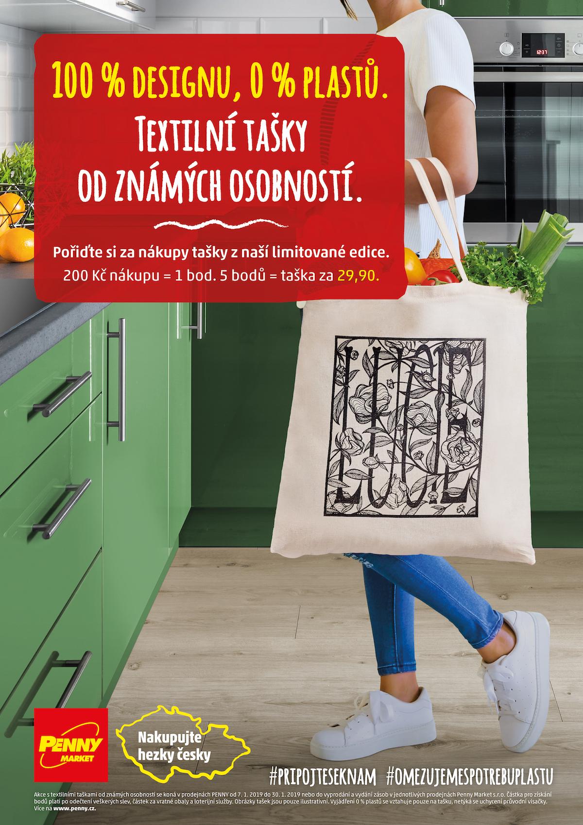 Kampaň ke konci plastových tašek v Penny Marketu