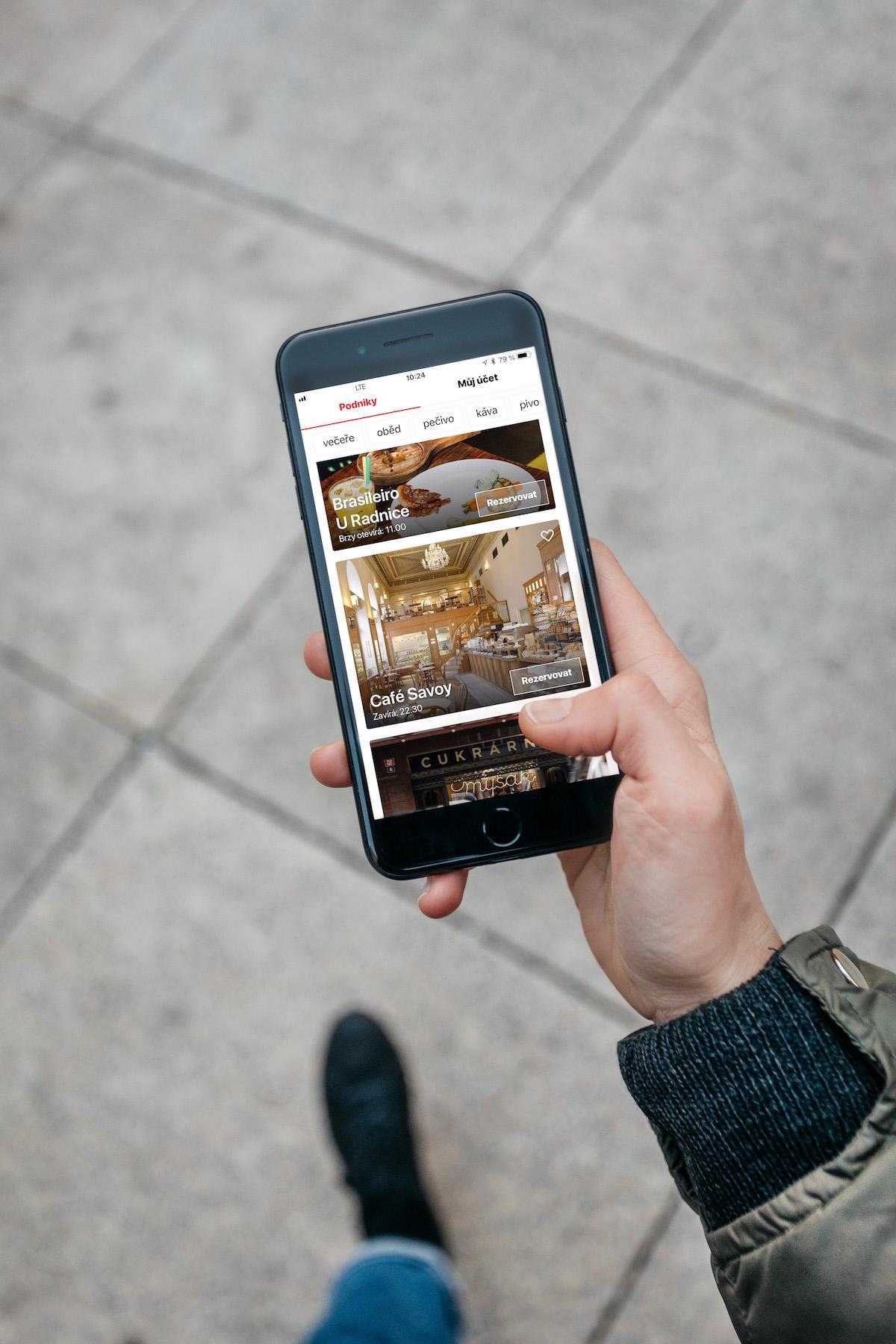 Mobilní aplikace restaurací Ambiente
