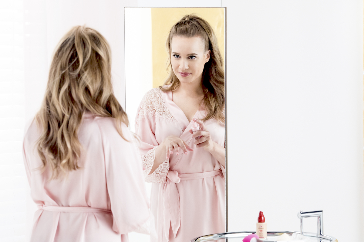 Kristína Peláková v kampani značky Dermacol