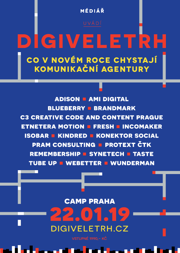 Digiveletrh 2019 představí novinky 19 agentur