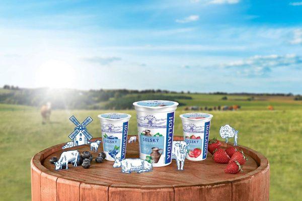 Reklama na jogurty Hollandia je poprvé v televizi