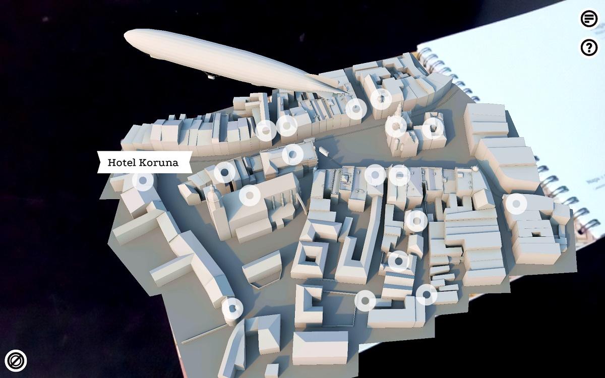 Jednotlivé modely jsou interaktivní. Kromě toho, že mohou zobrazit informace o konkrétních objektech nabízí i vizualizaci v různých obdobích
