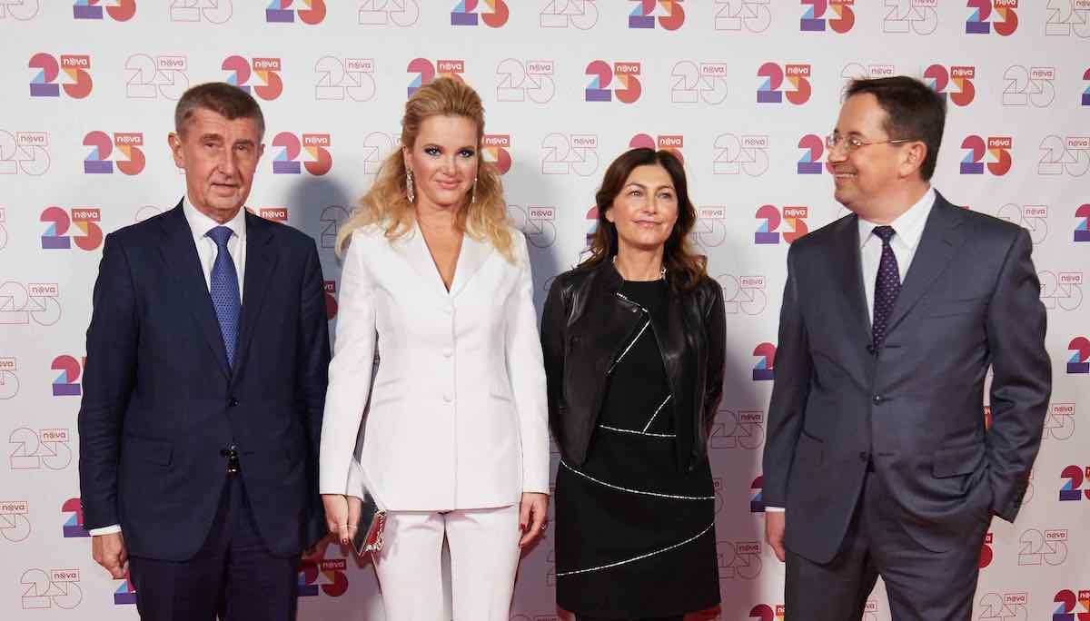 Andrej Babiš, Monika Babišová, Gabriela von Ehren a Christoph Mainusch