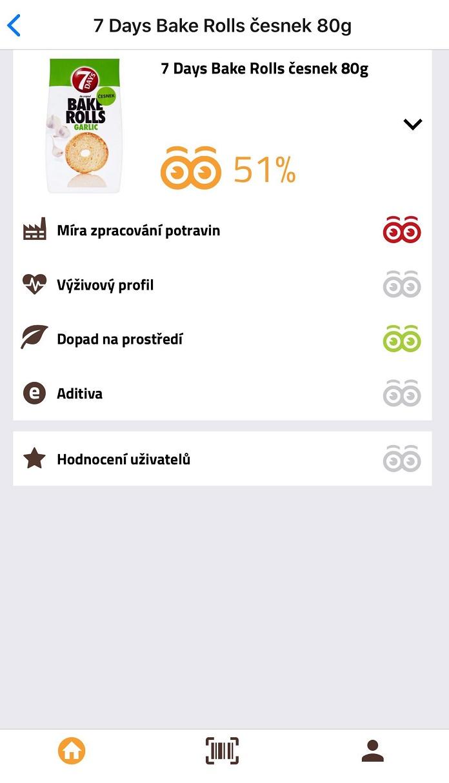 Skóre každého produktu tvoří čtyři hlavní kategorie a hodnocení uživatelů