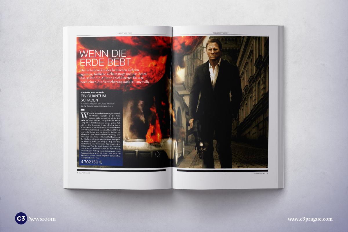Ukázka z práce agentury C3 pro interní časopis pojišťovny Allianz
