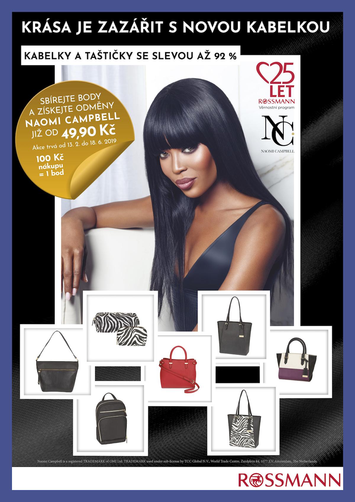 Věrnostní kampaň Rossmannu s Naomi Campbell
