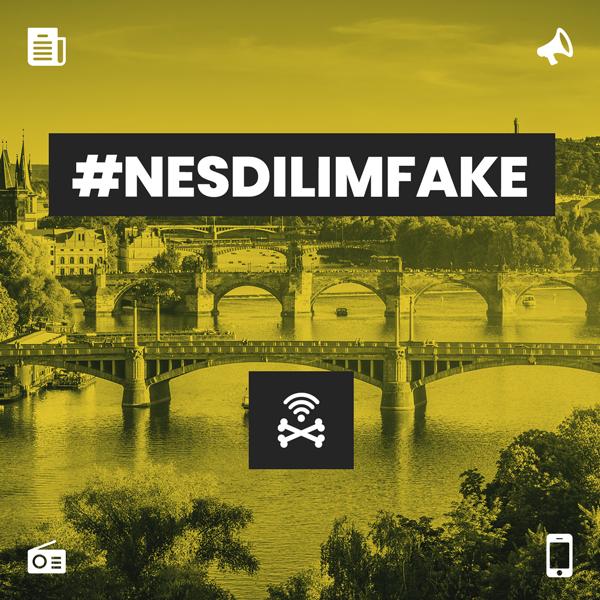 Vizuál z kampaně #nesdilimfake
