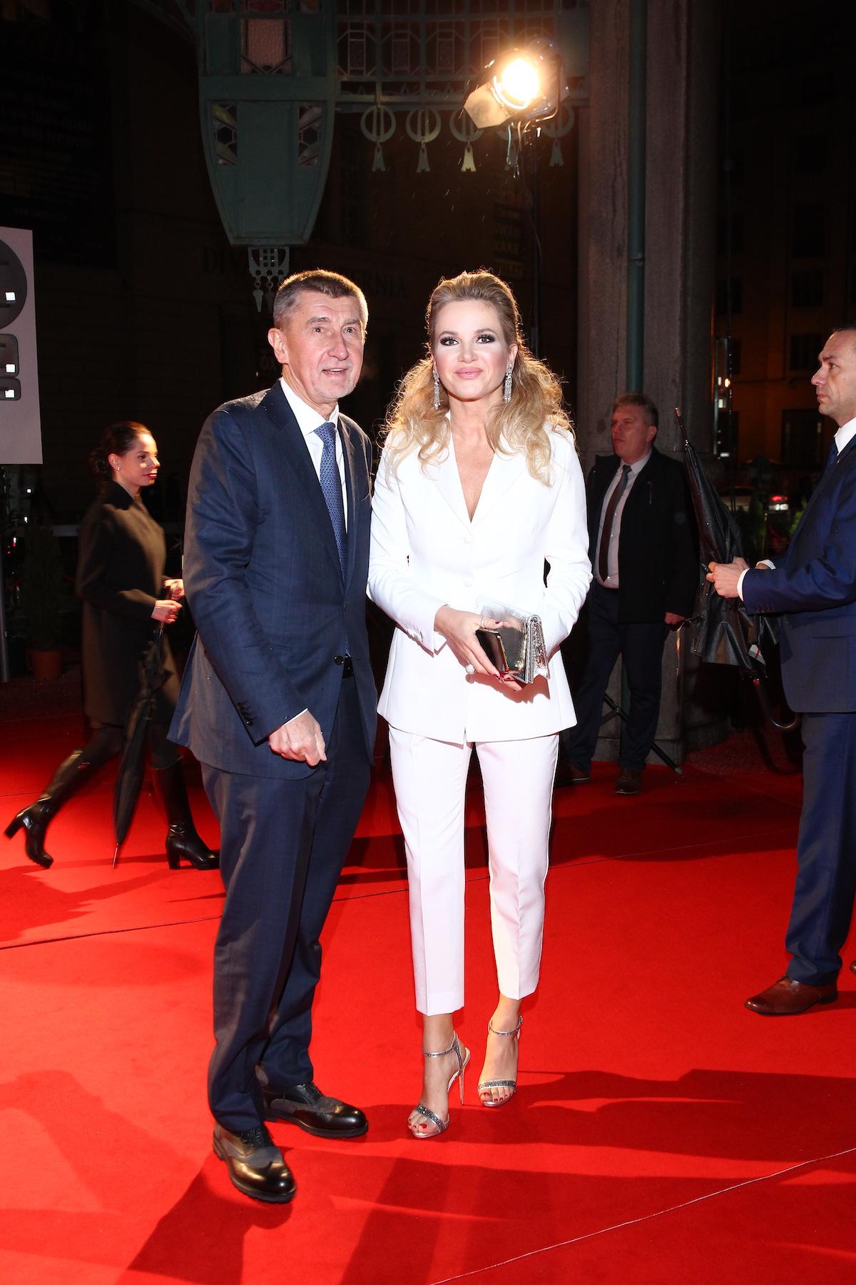 Premiér Andrej Babiš s chotí Monikou
