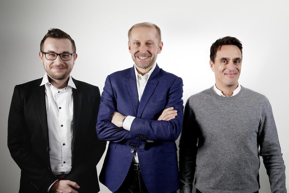 Vedení Blue Infinity: zleva Daniel Urminský, Pierre Aebisher, Patrik Gamryd