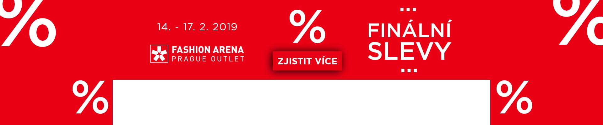 Finální slevy ve Fashion Arena Prague Outlet