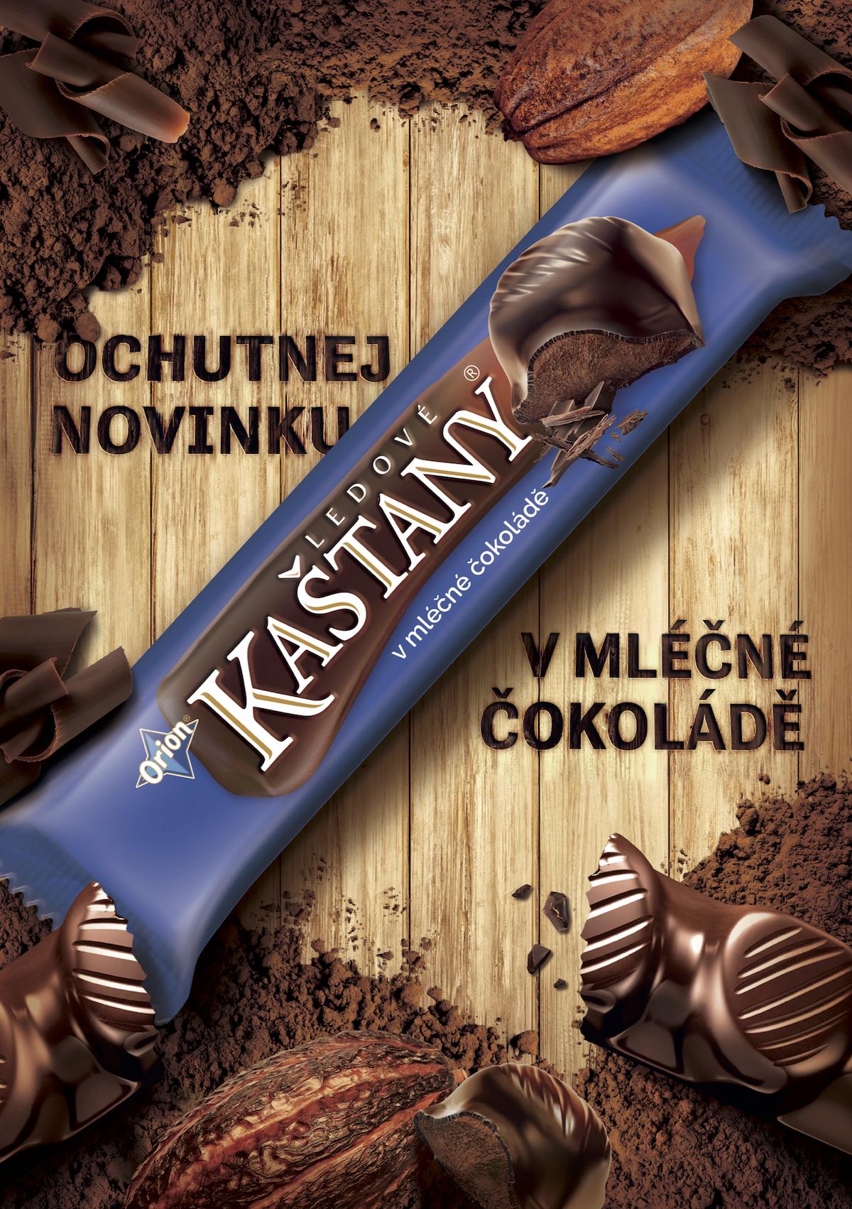 Ledové kaštany v mléčné čokoládě