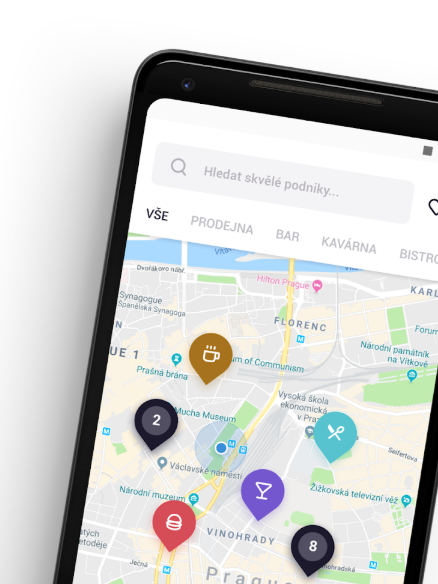 Všechny podniky se zobrazují na interaktivní mapě