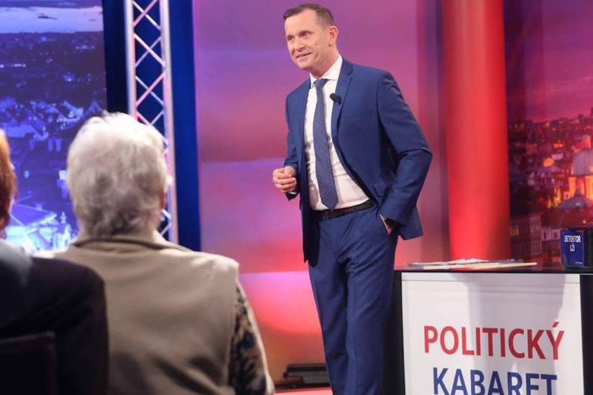 Politický kabaret. Repro: TV Barrandov