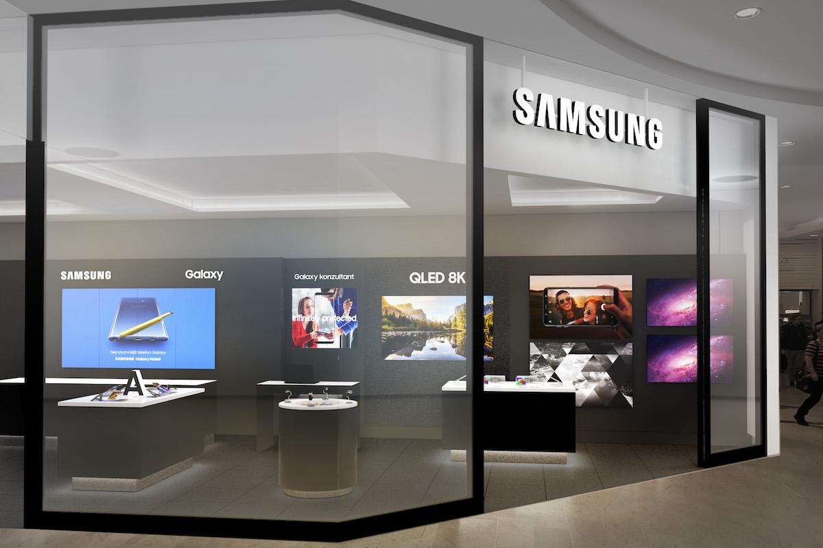 Znovuotevřená prodejna značky Samsung v centru Nový Smíchov