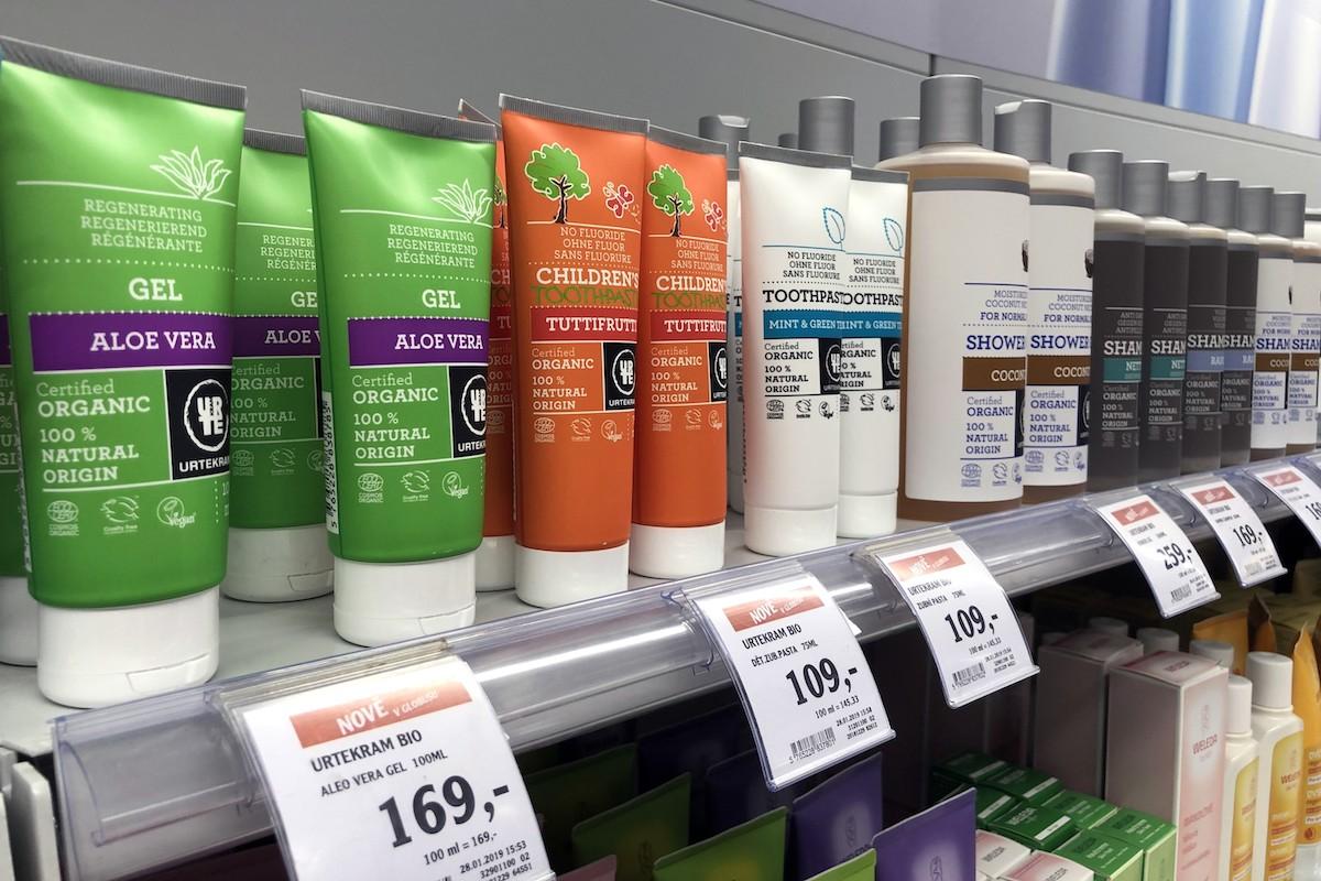 Kosmetika Urtekram v nabídce Globusu
