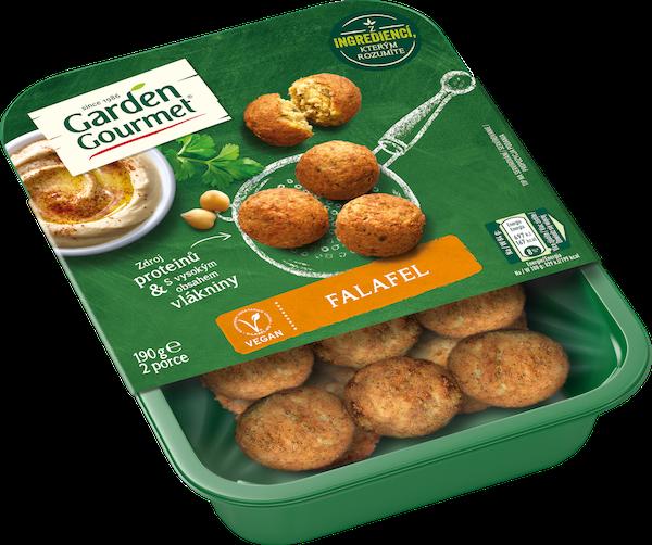 Garden Gourmet veganský Falafel (190 g) tvoří cizrna, cuketa a směs koření