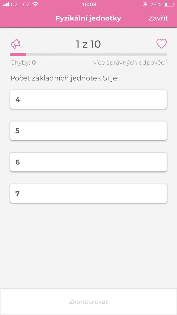 V každém testu je na výběr z několika odpovědí. Správných může být i více