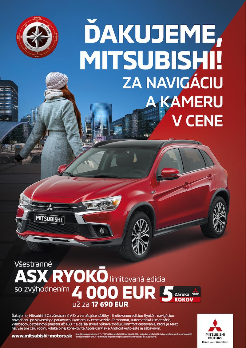 Tiskový inzerát z kampaně Díky, Mitsubishi!