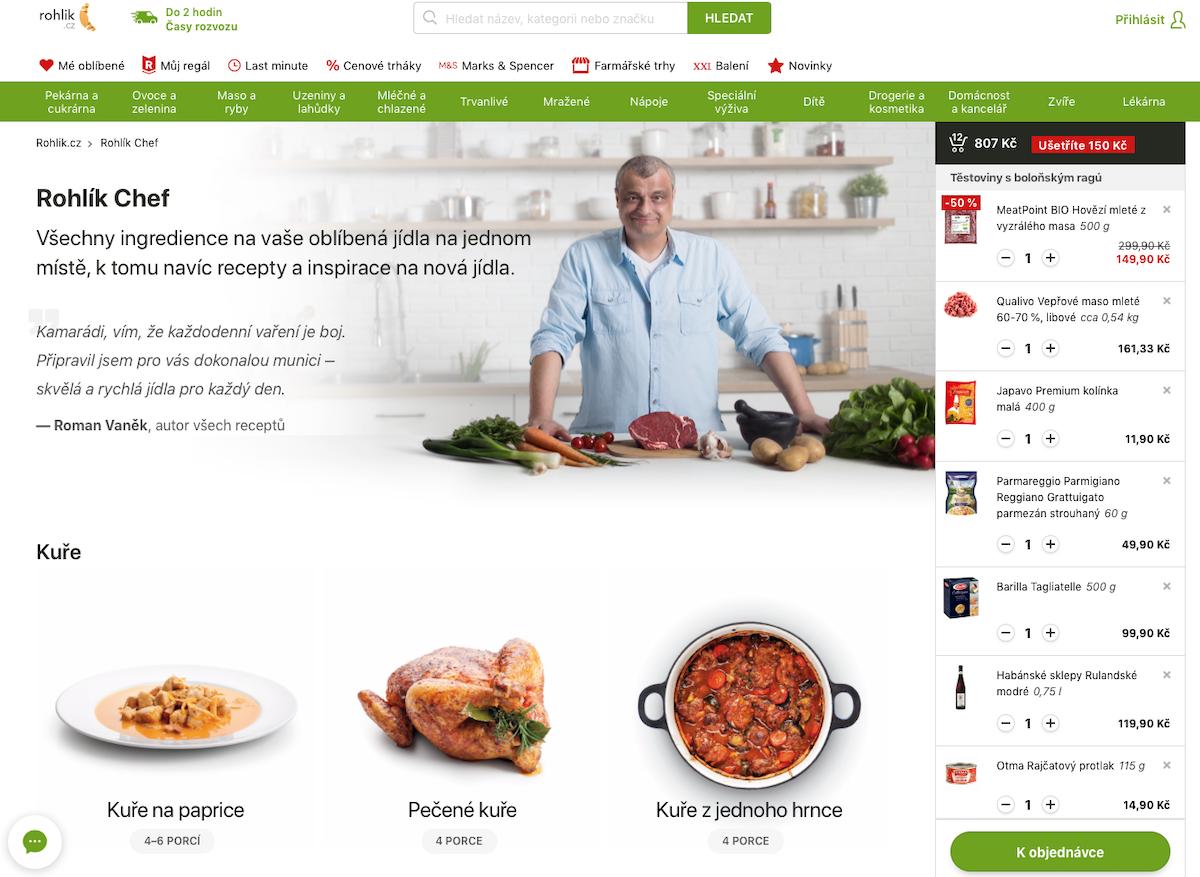 Na Rohlíku mohou zákazníci nově vybírat podle toho, co chtějí vařit