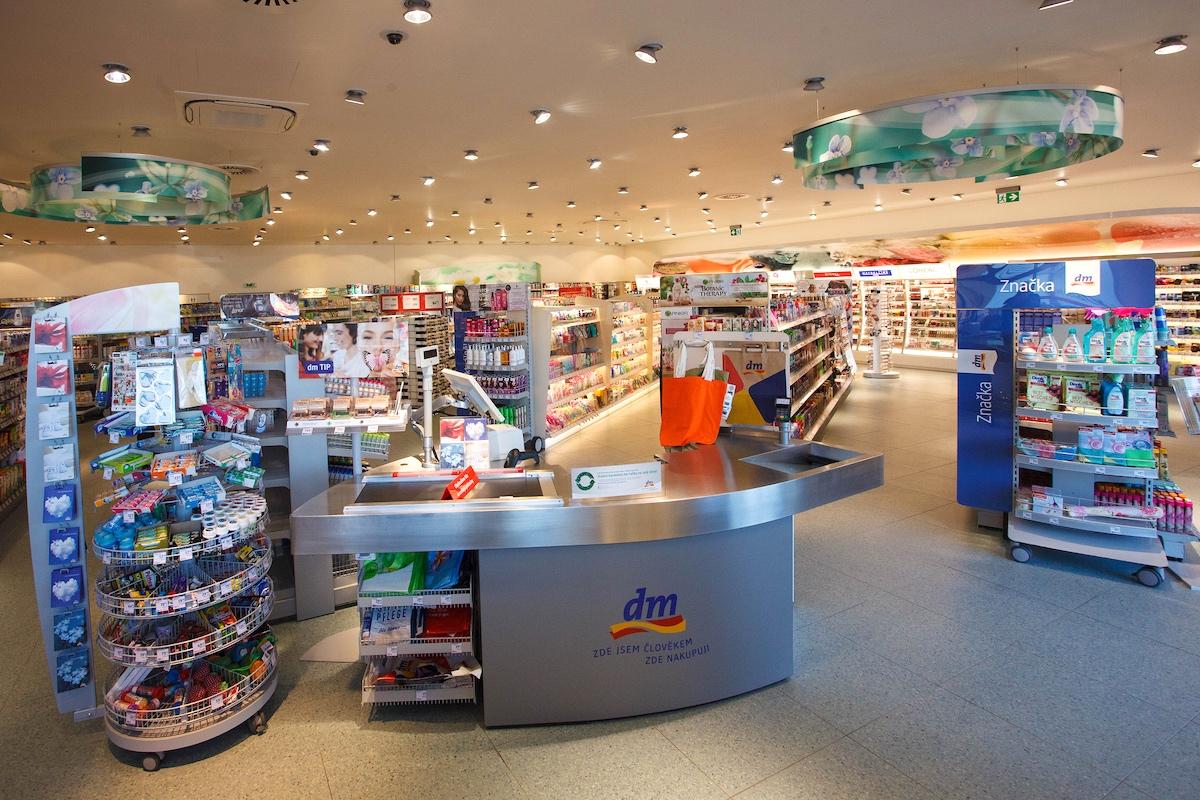 Modernizovaná prodejna drogerie Dm