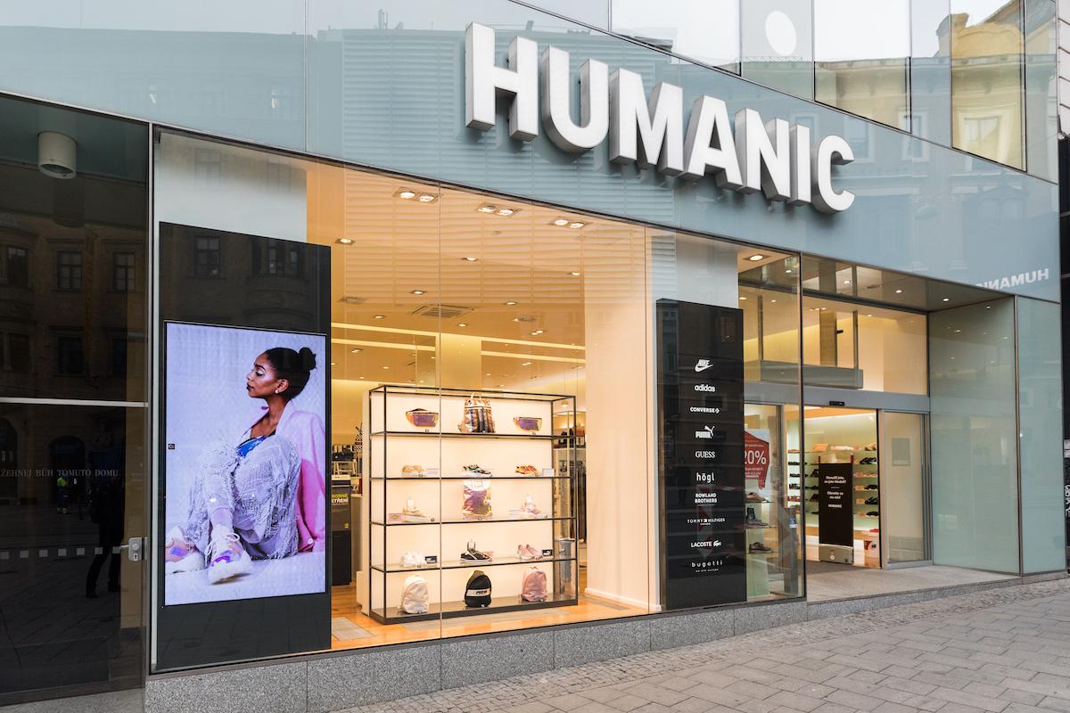 Zrekonstruovaná prodejna Humanic na náměstí Svobody v Brně