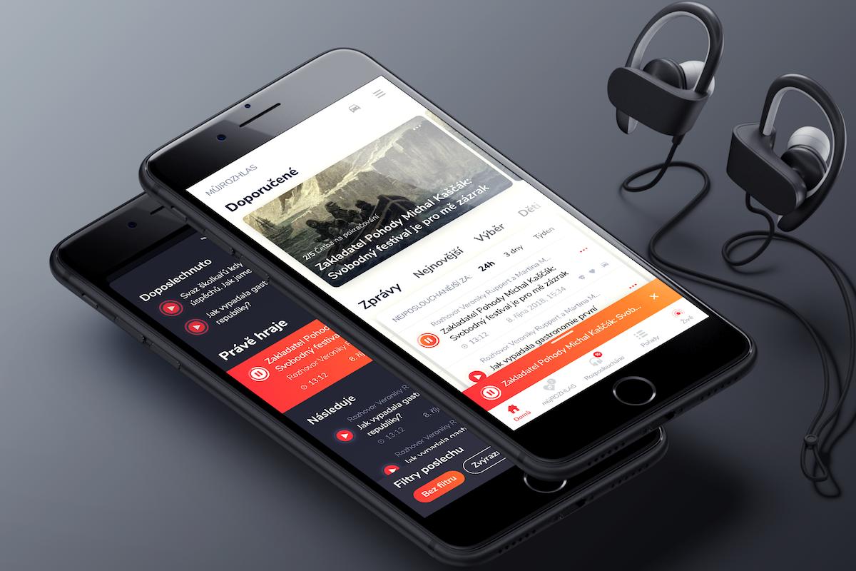 Návrh aplikace Můj rozhlas. Zdroj: Český rozhlas