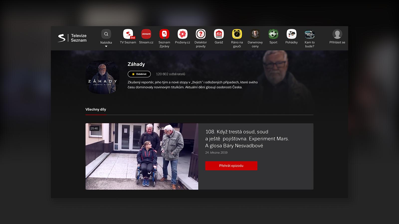 TelevizeSeznam.cz: pořady