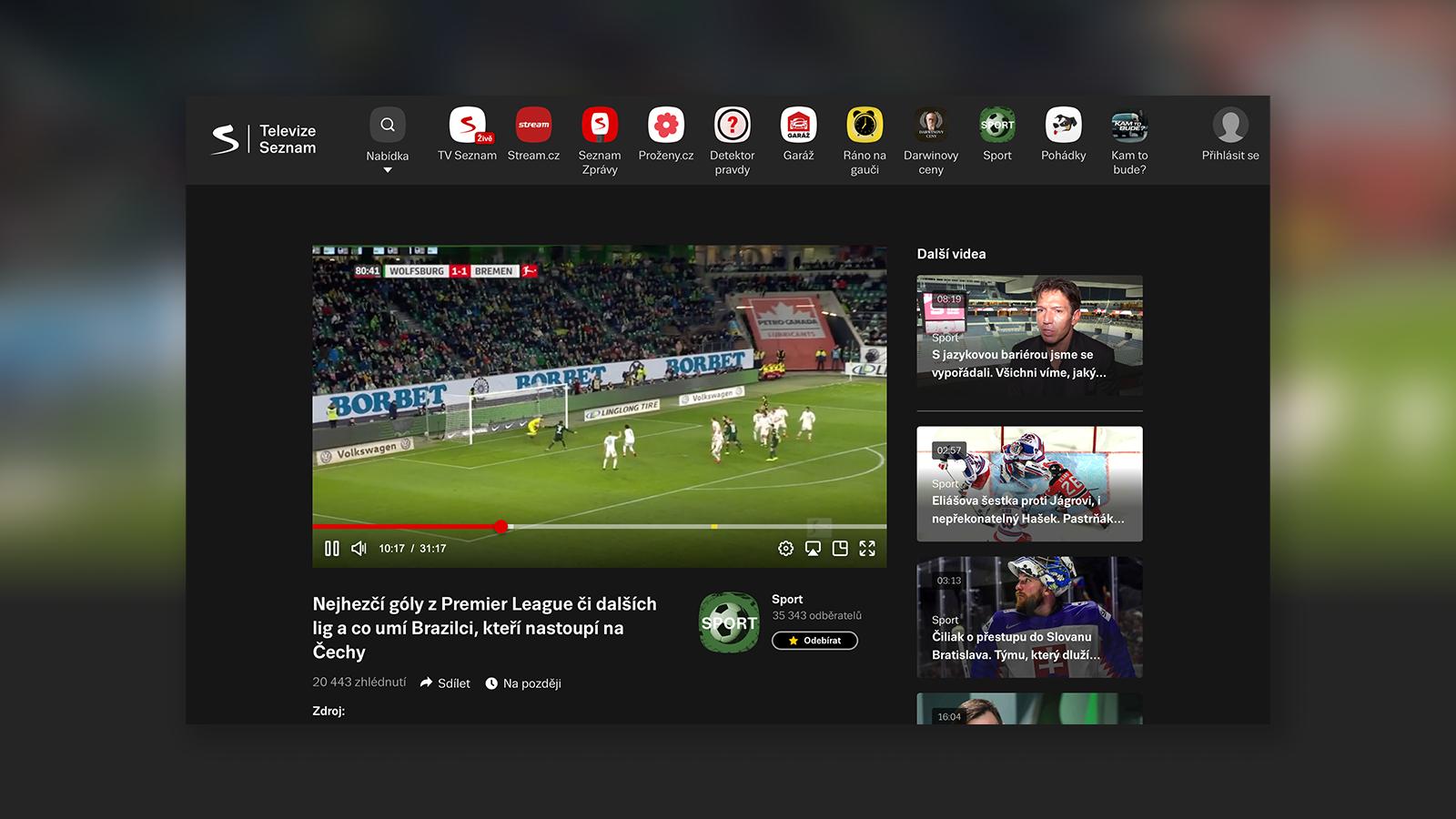 TelevizeSeznam.cz: sport