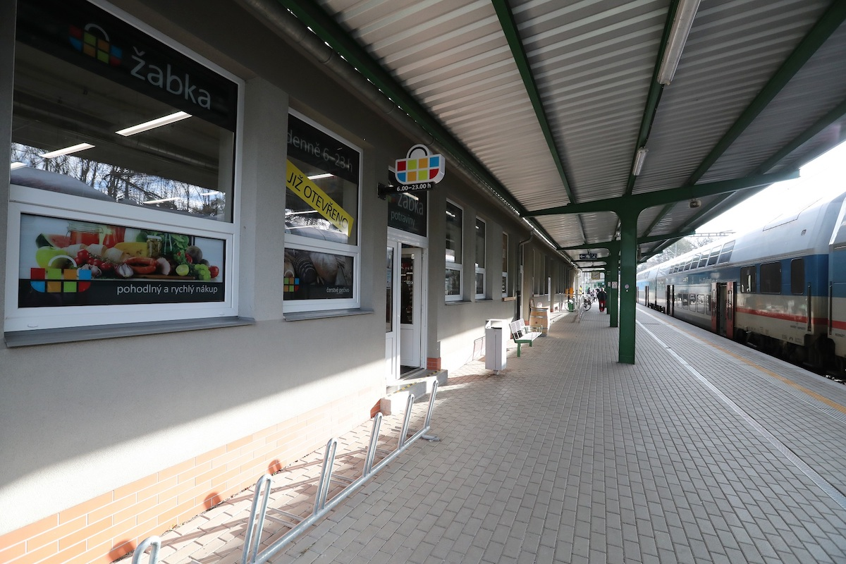 Nová Žabka ve stanici Praha Klánovice. Foto: Martin Pekárek
