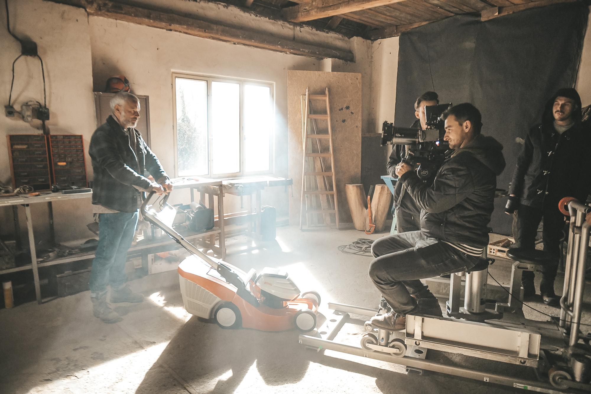 Z natáčení spotu pro Stihl