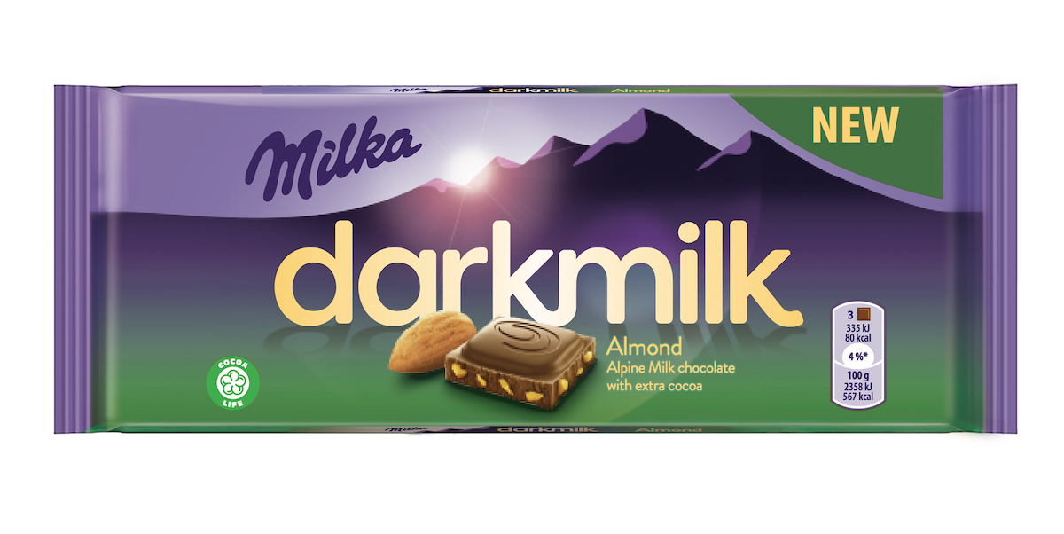 Milka Darkmilk s mandlemi